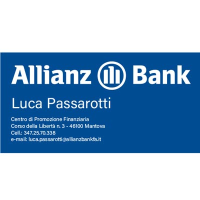 logo allianz bank blu e bianco